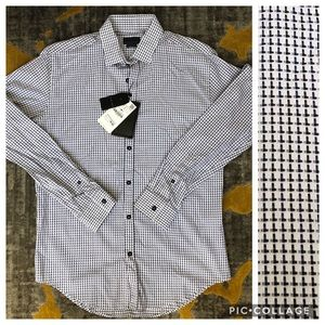 NWT Men's Zara Slim Fit Dress Shirt